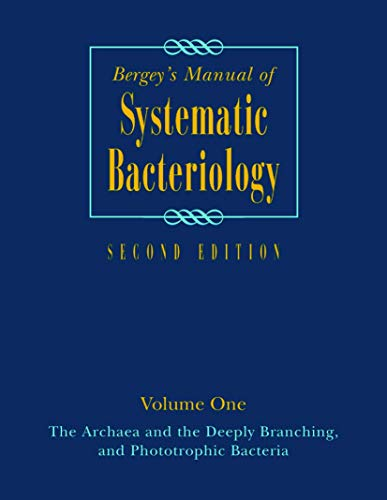 9780387987712: Bergey's Manual of Systematic Bacteriology: Volume One : The Archaea and the Deeply Branching and Phototrophic Bacteria (Bergey's Manual of Systematic Bacteriology (Springer-Verlag))
