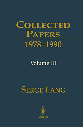 9780387988009: Collected Papers III: 1978–1990: v. 3