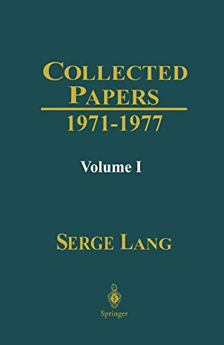 Serge Lang: used books, rare books and new books