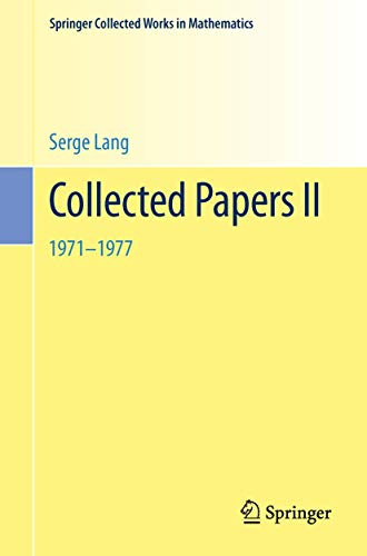 9780387988030: Collected Papers II: 1971–1977 (English and German Edition)