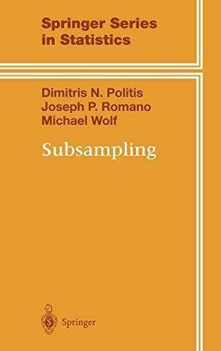 9780387988542: Subsampling (Springer Series in Statistics)