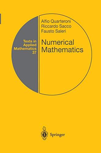 9780387989594: Numerical Mathematics (Texts in Applied Mathematics)