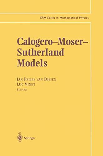 CALOGERO-MOSER-SUTHERLAND MODELS: DIEJEN, J.F. VAN