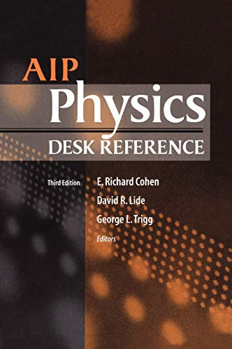 AIP Physics Desk Reference: David R. Lide