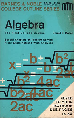 9780389000037: Algebra (Coll. Outline S) (College Outline)