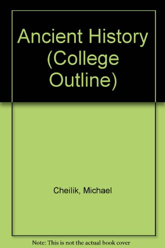 9780389000112: Ancient History (College Outline)