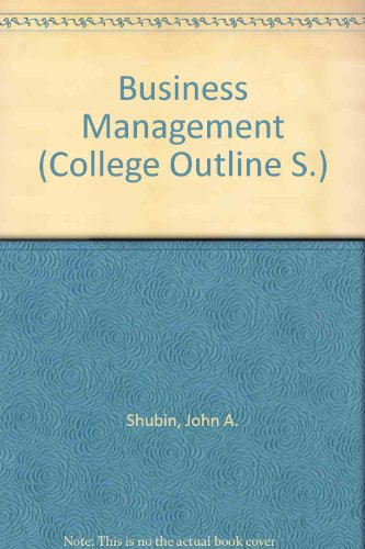 9780389000259: Business Management (Coll. Outline S)