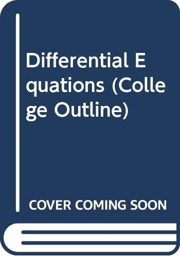 9780389000488: Differential Equations (College Outline S.)