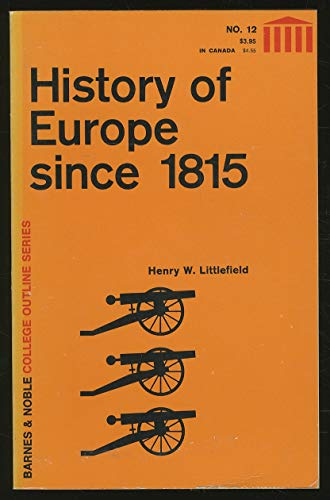 9780389000501: History of Europe: Since 1815 v. 2 (College Outline)