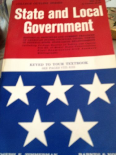9780389000631: State and Local Government (College Outline)