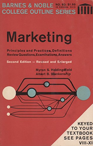 9780389000761: Marketing (College Outline S.)