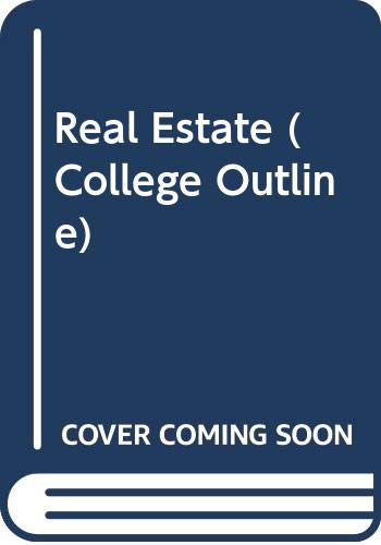 9780389001089: Real Estate (College Outline Series)