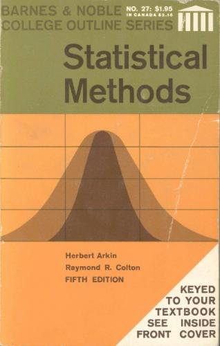 9780389001195: Statistical Methods (College Outline)