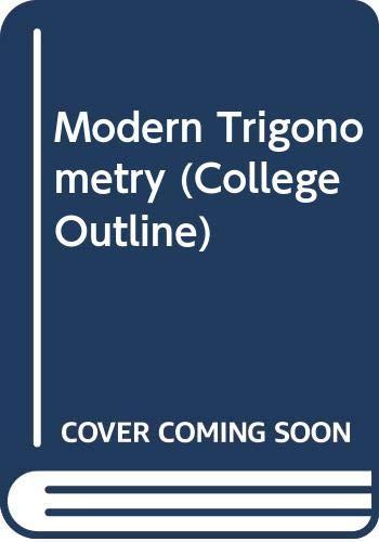 9780389001270: Modern Trigonometry (College Outline)