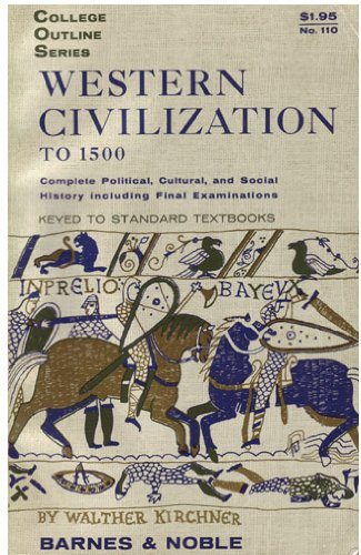 9780389001324: Western Civilization to 1500 (College Outline Series)