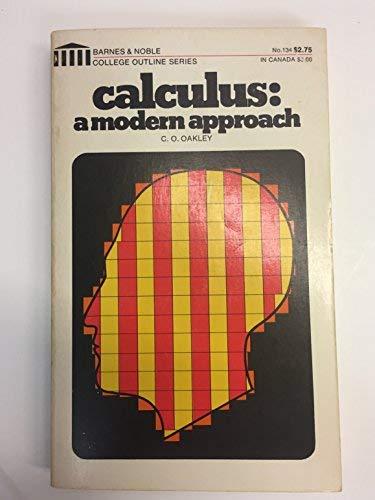 9780389001423: Calculus; A Modern Approach