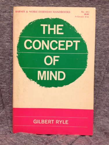 9780389002321: The Concept of Mind