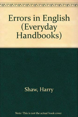 9780389002390: Errors in English (Everyday Handbooks)