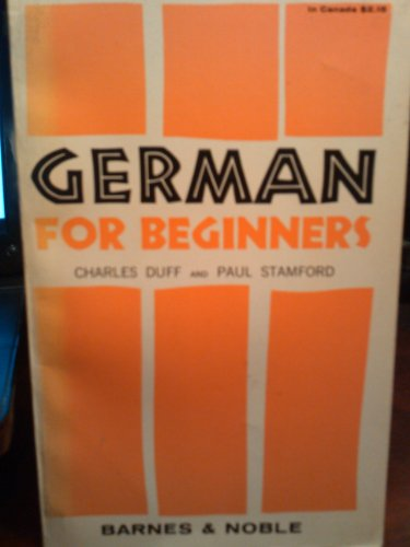 9780389002499: German for Beginners, Number 217 (Revised)