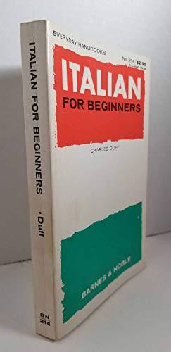 9780389002574: Italian for Beginners (Everyday Handbooks)