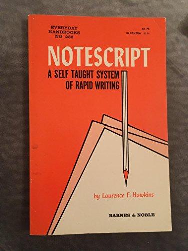 9780389002673: Notescript.
