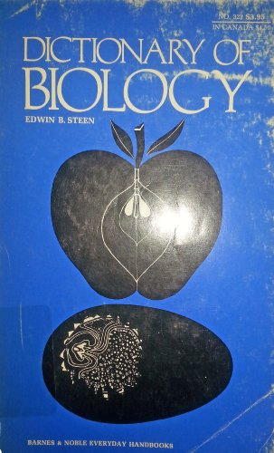 9780389003335: Dictionary of biology (Everyday handbooks, no. 321)