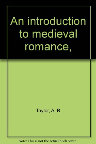9780389011668: An introduction to medieval romance,