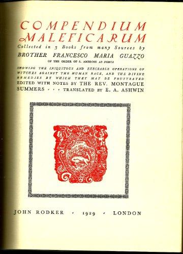 9780389040385: Compendium Maleficarum