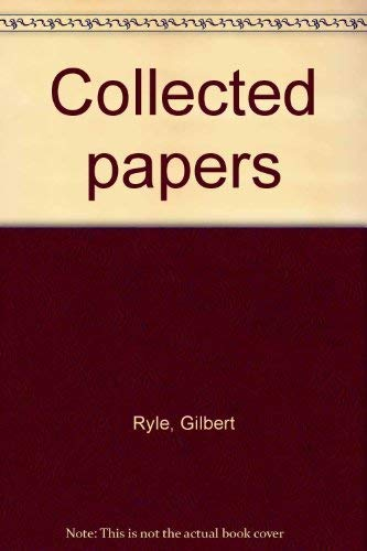 9780389041122: Title: Collected Papers Volume I Critical essays