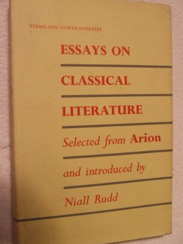 9780389046080: Essays on classical literature; (Views and controversies about classical antiquity)