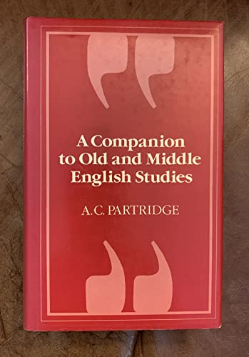 9780389202875: A Companion to Old and Middle English Studies (language Library)