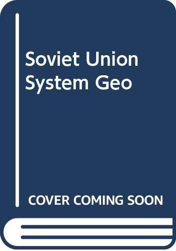 9780389203100: Soviet Union System Geo