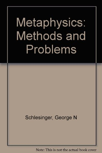 9780389203810: Metaphysics: Methods and Problems
