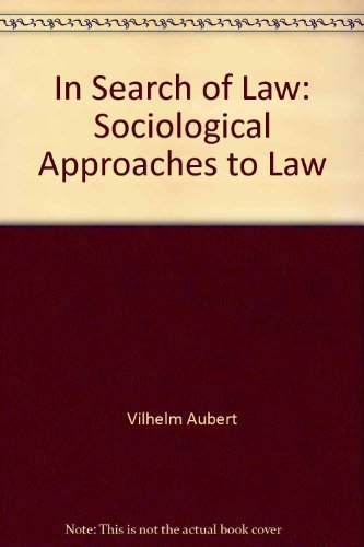 9780389203858: In Search of Law: Sociological Approaches to Law (Critical Studies)