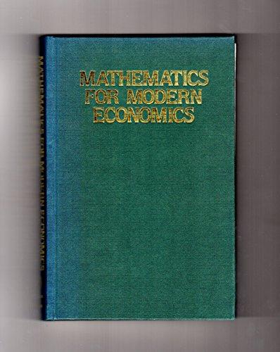 9780389205210: Mathematics for Modern Economics