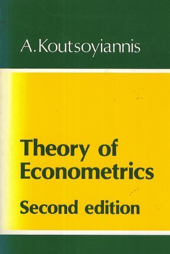 9780389205630: Theory of Econometrics
