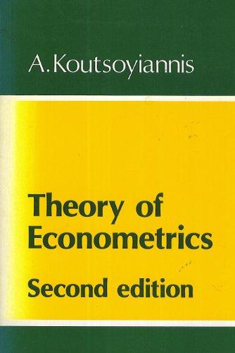 9780389205630: Theory of Econometrics