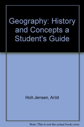 9780389208075: Geography: History and Concepts a Student's Guide