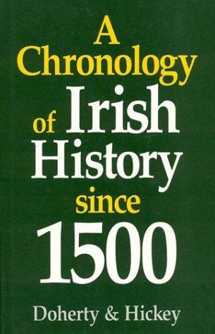 9780389208952: A Chronology of Irish History Since 1500