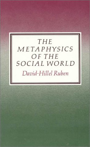 9780389209041: The Metaphysics of the Social World