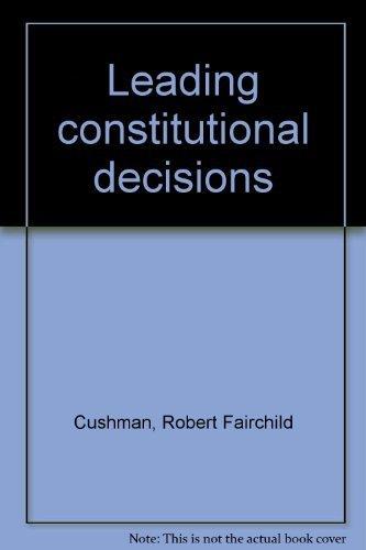 9780390250070: Leading constitutional decisions