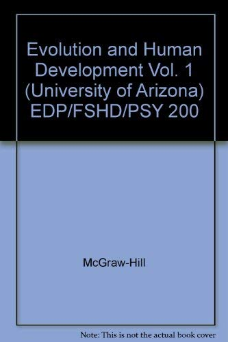 Evolution and Human Development Vol. 1 (University: McGraw-Hill