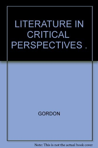 9780390376305: Literature in Critical Perspectives an Anthology