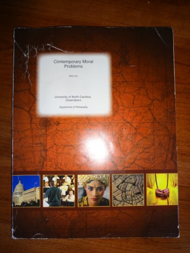 9780390444356: Contemporary Moral Problems. Phi 121 (DEPARMENT OF PHILOSOPHY)