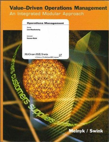 9780390478344: Value-driven Operations Management: An Integrated Modular Approach