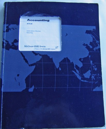 9780390488275: Managerial Accounting (Custom Text Prepared for Accounting 301, Leavey School of Business Santa Clara University)
