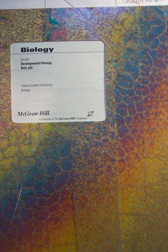 9780390641236: Analysis of Biological Development,texas Southern University 2nd Edition