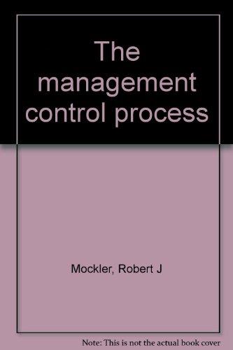 9780390644404: The management control process