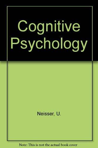9780390665096: Cognitive Psychology (century psychology series)
