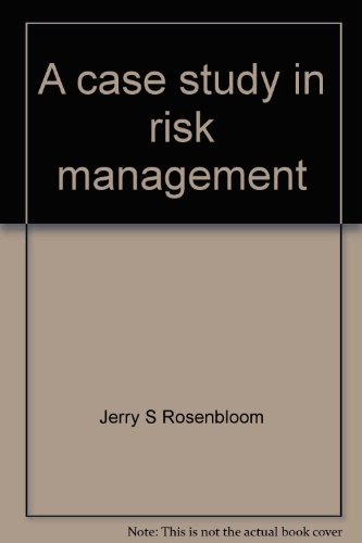 9780390760104: A case study in risk management (Risk and insurance series)